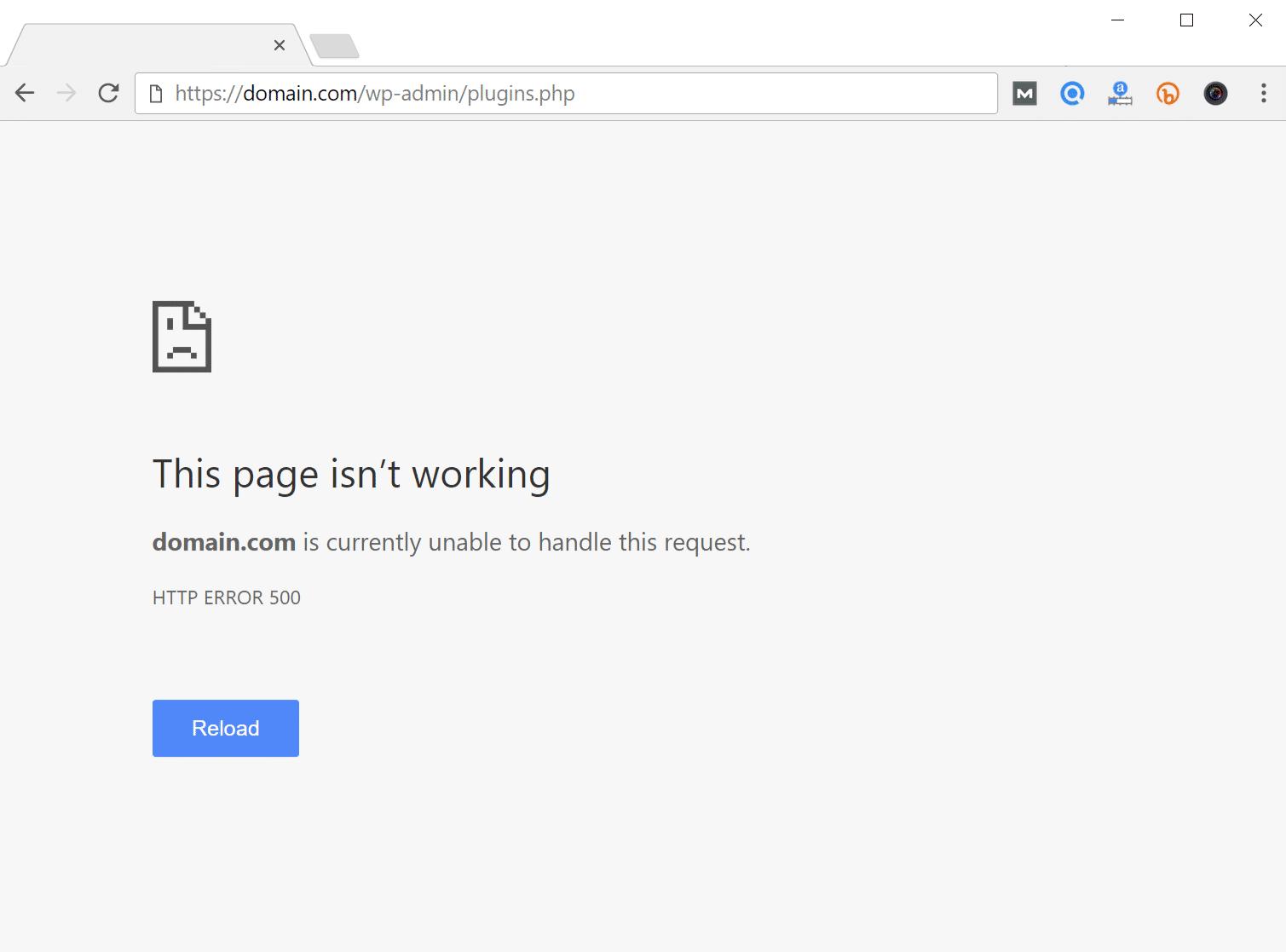 حل مشكلة خطأ Internal Server Error 500 فى وورد بريس