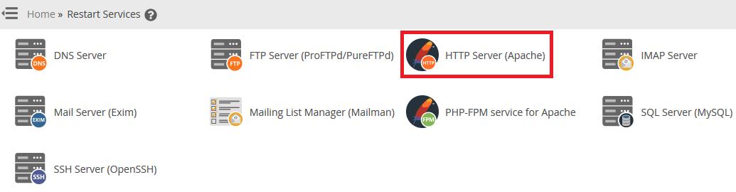 كيفية إعادة تشغيل الخدمات في WHM/cPanel