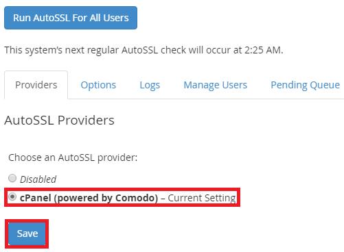 كيفية تمكين واستخدام AutoSSL في WHM