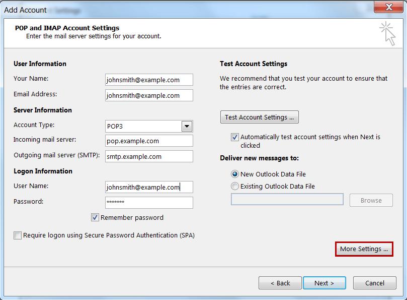 شرح ربط بريد Webmail بـ iOS و Android و Outlook 2013
