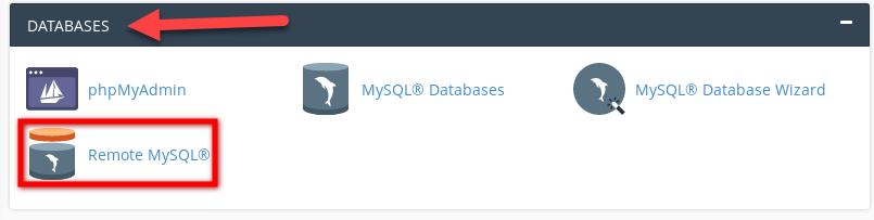 تمكين MySQL عن بعد في واجهة cPanel
