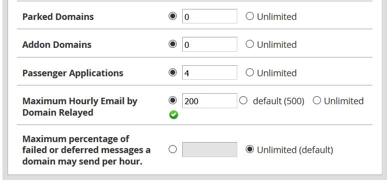 تحديد عدد إرسال رسائل البريد بالساعة في WHM؟