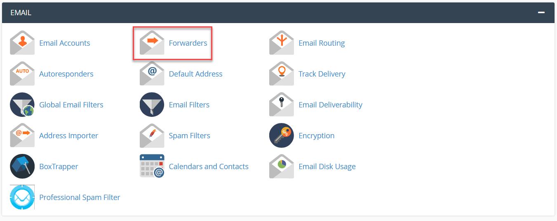 كيفية إعداد إعادة توجيه البريد الإلكتروني في cPanel